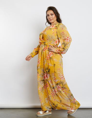 Plus Size Floral Field Dress