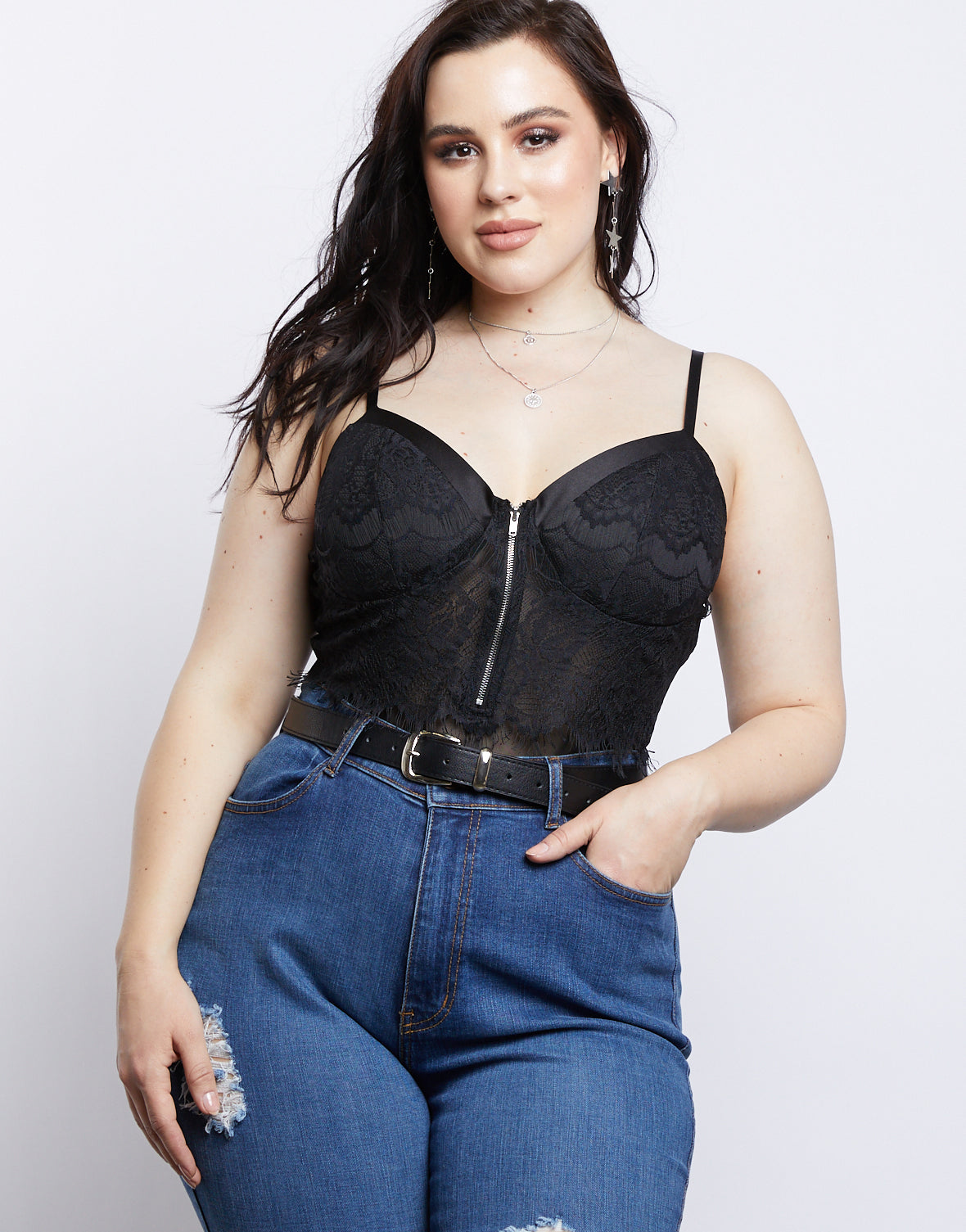 eaebeed1012 Plus Size Floral Lace Bodysuit - plus size bodysuits and rompers – 2020AVE