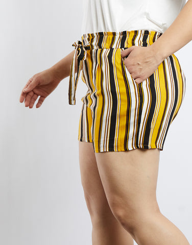 Plus Size Freya Multicolored Striped Shorts