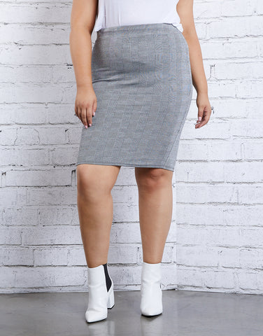 Plus Size Giselle Plaid Skirt