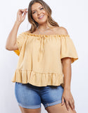 Plus Size Gracie Off The Shoulder Top