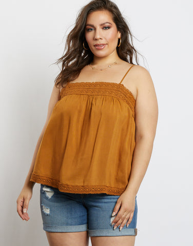Plus Size Hailey Embroidered Tank