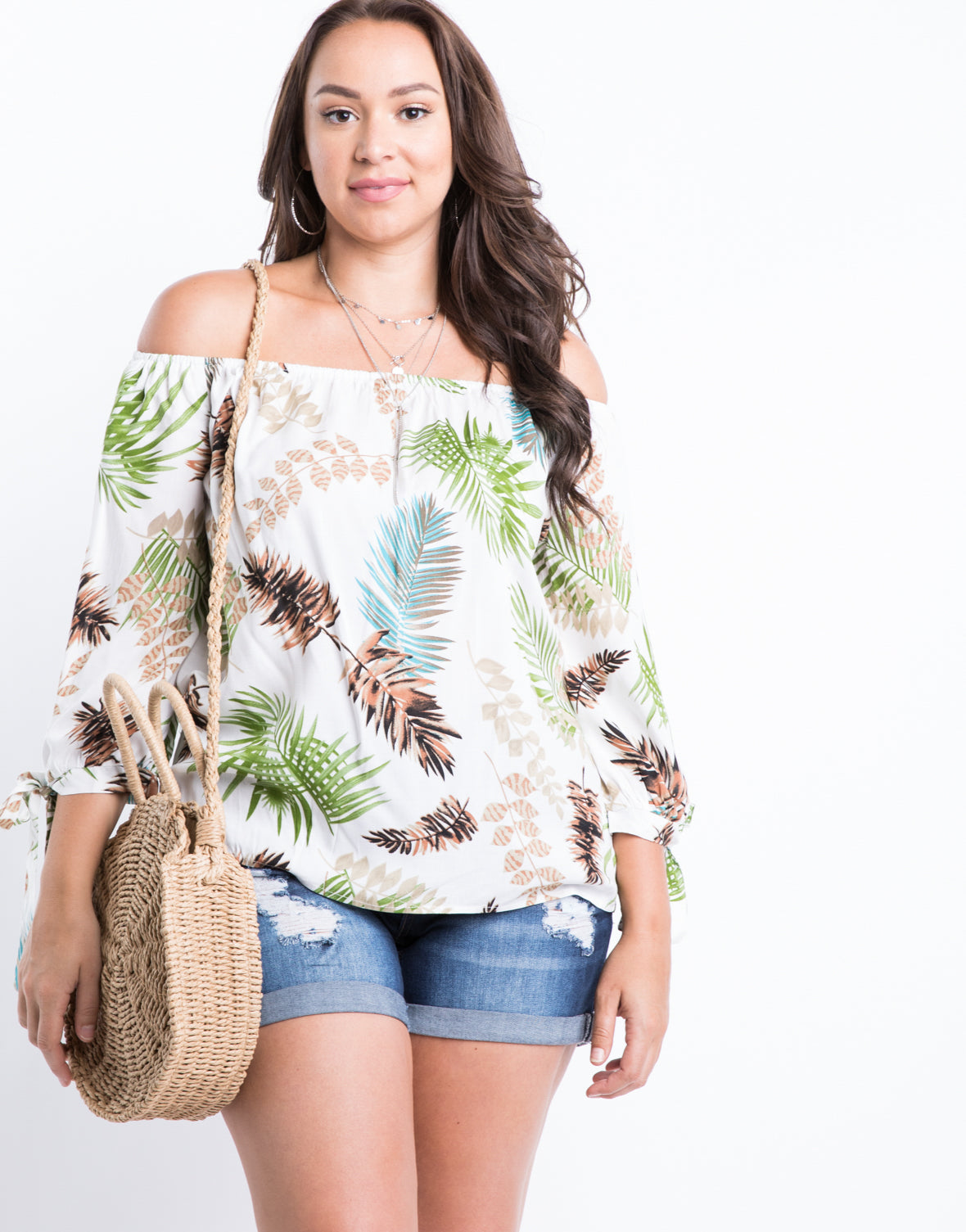 Plus Size Island Oasis Top