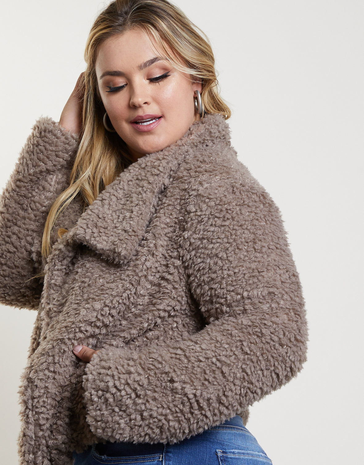Plus Size It Girl Faux Fur Coat