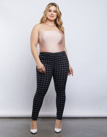 Plus Size Jessie Grid Pants
