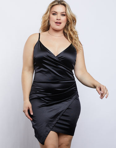 Plus Size Julie Satin Dress
