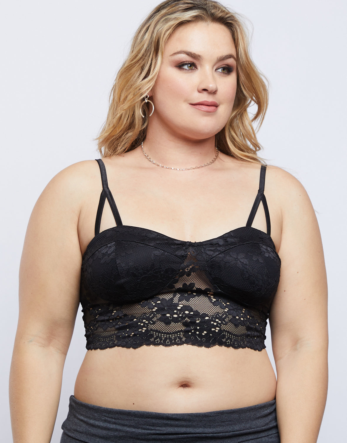 Plus Size Just Lacey Bralette