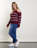Plus Size Karla Striped Sweater