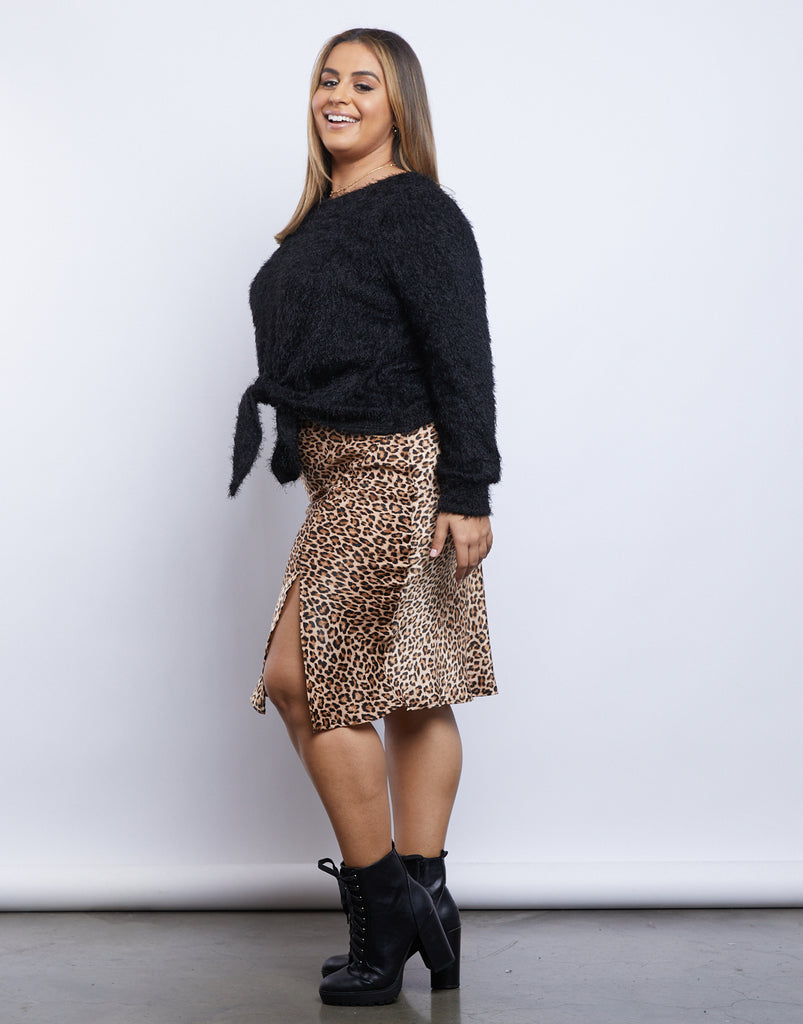 Curve Kristin Tie Sweater Plus Size Tops -2020AVE