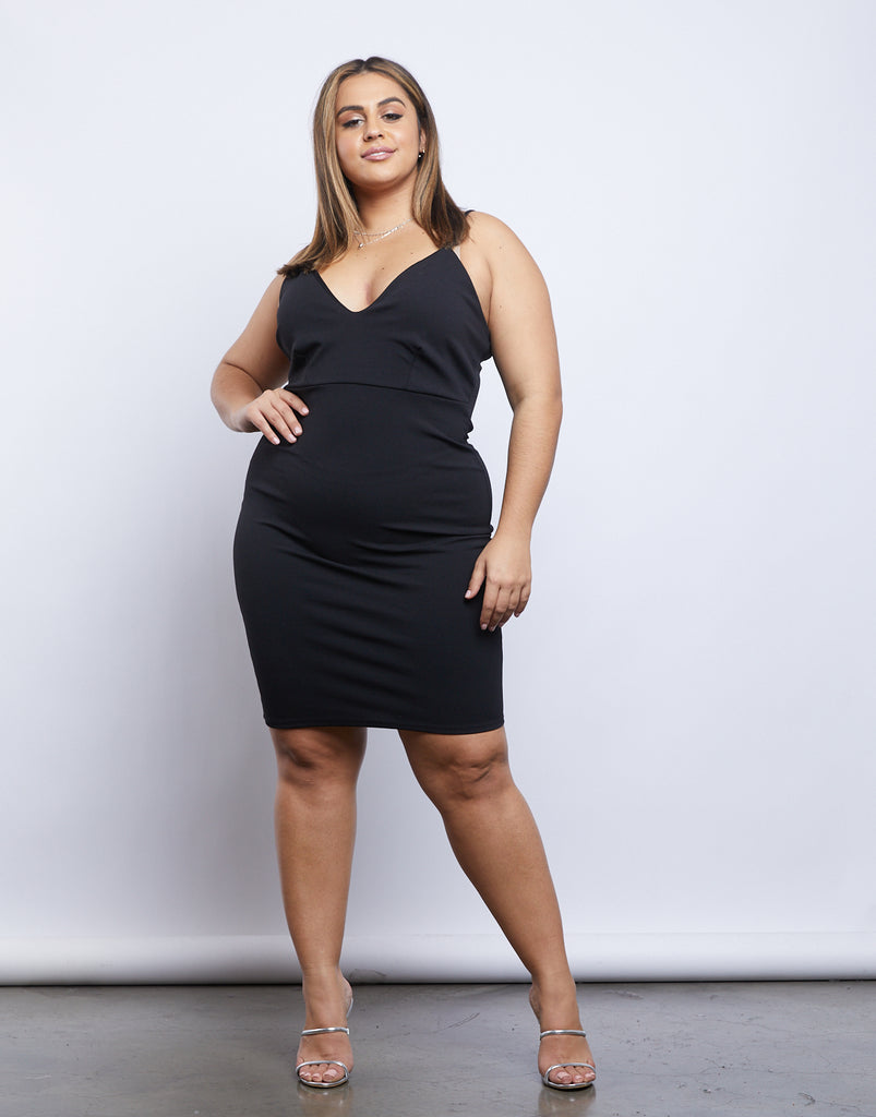 Curve LA Nights Dress Plus Size Dresses Black 1XL -2020AVE
