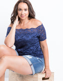 Plus Size Lace Into Florals Top