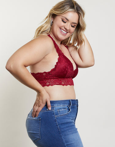 Plus Size Lacey Padded Bralette