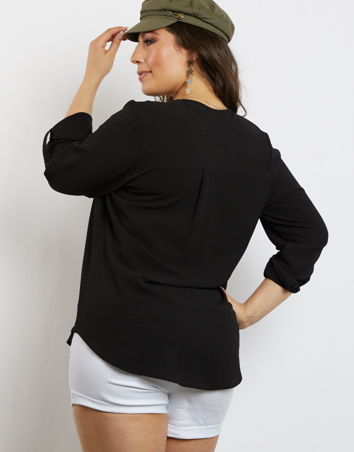 Plus Size Laid Back Chiffon Blouse