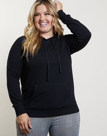 Plus Size Laid-Back Hoodie