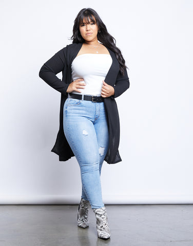 Plus Size Latching On You Cardigan