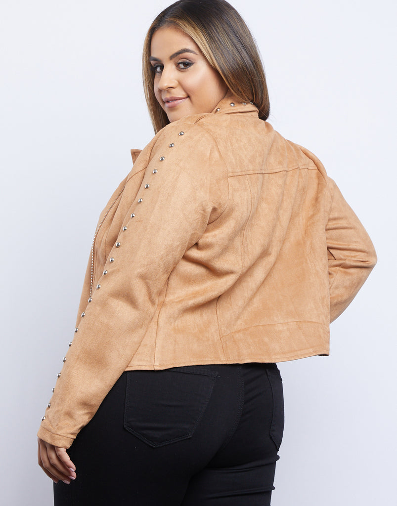 Curve Layla Suede Jacket Plus Size Outerwear -2020AVE