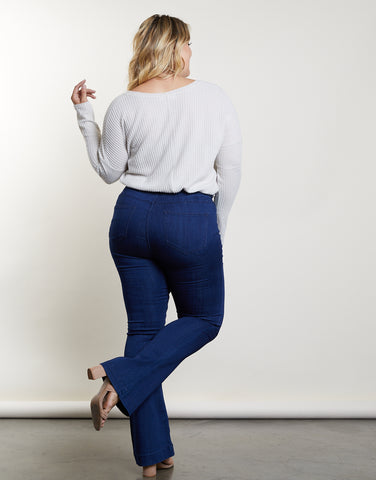 Plus Size Let's Kick It Flare Jeans