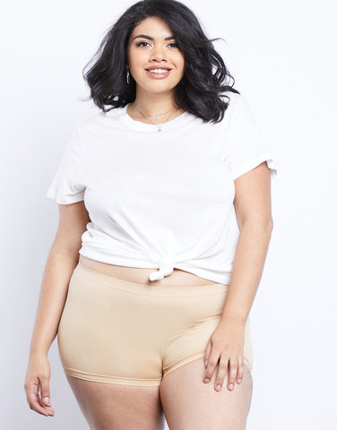 Plus Size Light As Air Boy Shorts
