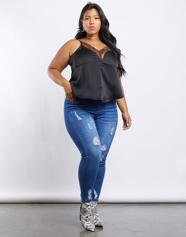 Plus Size Lilia Ripped Jeans