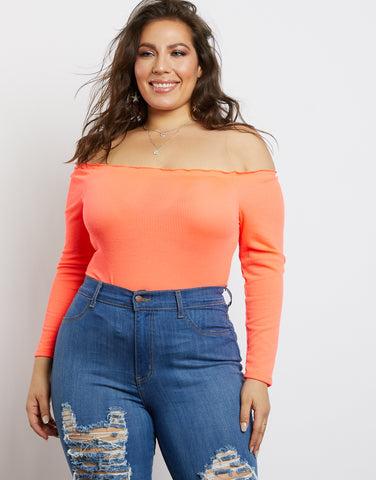 Plus Size Lily Off The Shoulder Bodysuit