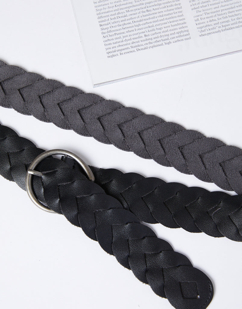 Curve Lina Braided Belt Plus Size Accessories Black One Size -2020AVE