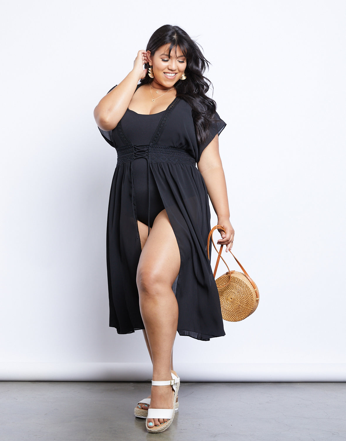 Plus Size Lost In Paradise Cover-Up Dress