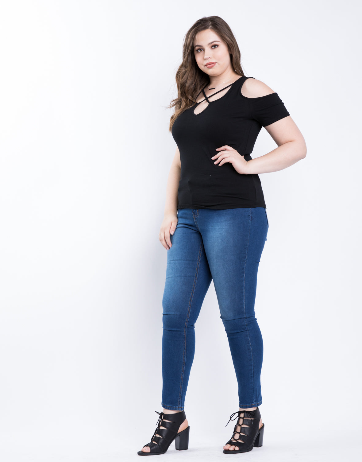 Plus Size Madison Cold Shoulder Top