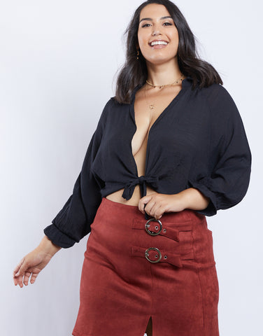 Plus Size Mafalda Tie Top