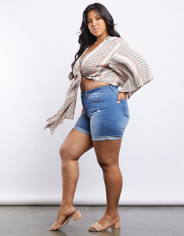Plus Size Marie Tie Front Top