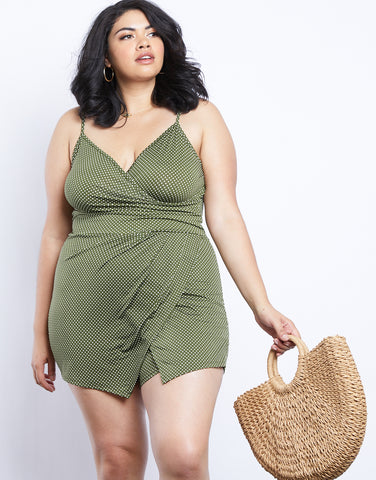Plus Size New Girl Polka Dot Romper