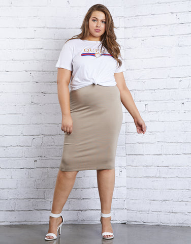 Plus Size On Repeat Bodycon Skirt