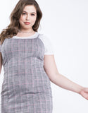 Plus Size Plaid Mini Dress