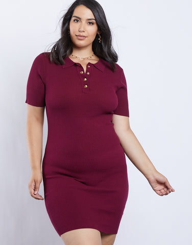 Plus Size Polo Dress
