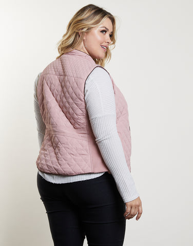 Plus Size Quilted Vest