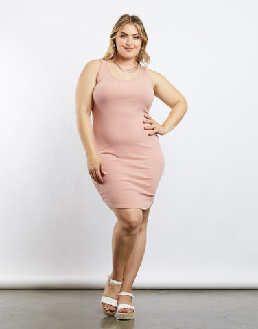 Plus Size Rachel Strappy Bodycon Dress