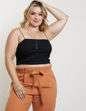 Plus Size Ribbed Atti-tube Top