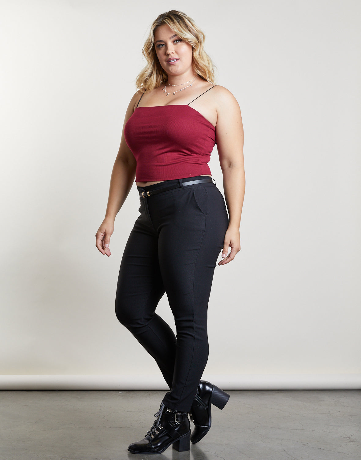 055b6842a18 Plus Size Ribbed Atti-tube Top - Plus Size Crop Top Outfit - Club ...