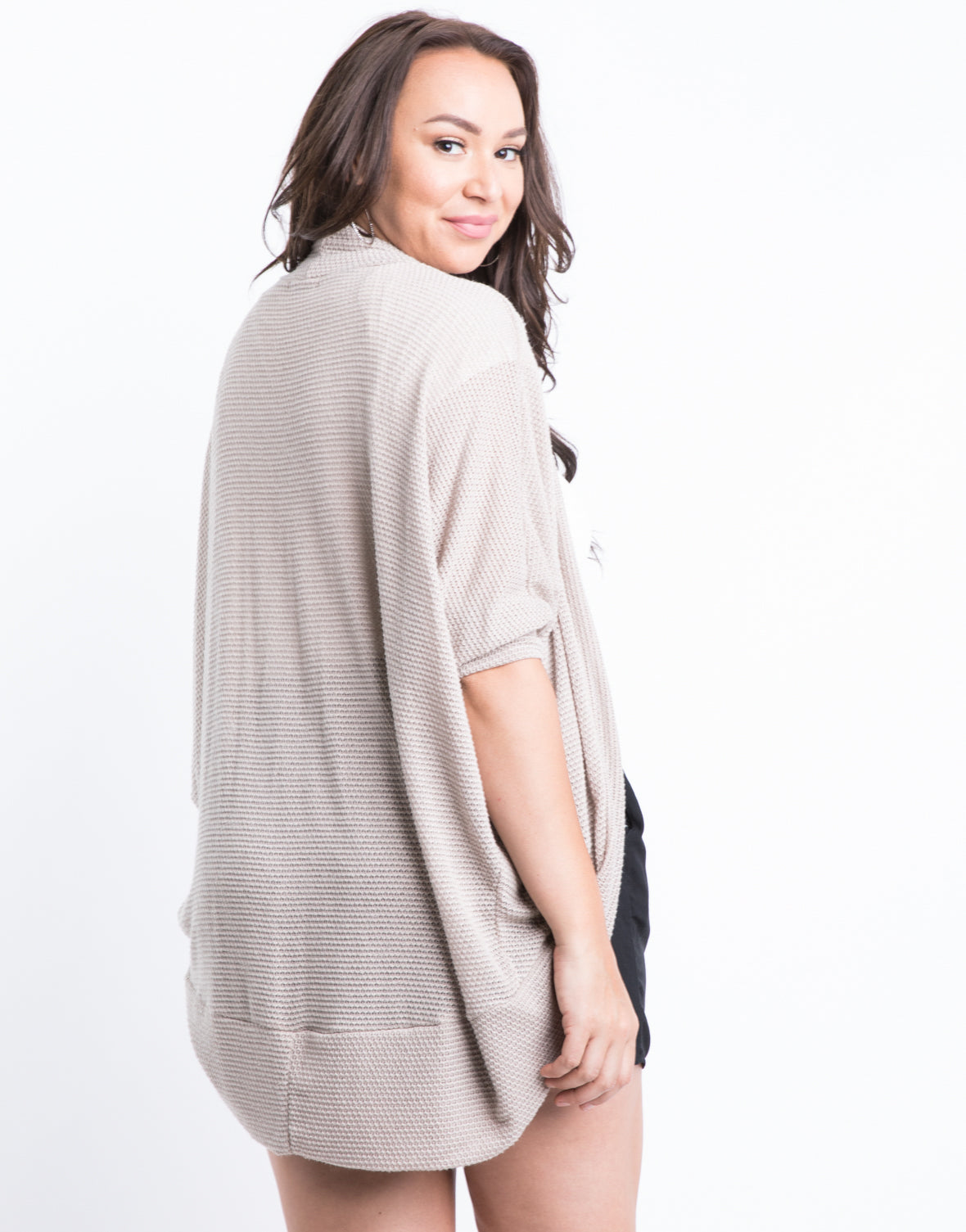 Plus Size See Right Through Me Cardigan