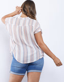 Plus Size Sierra Striped Shirt