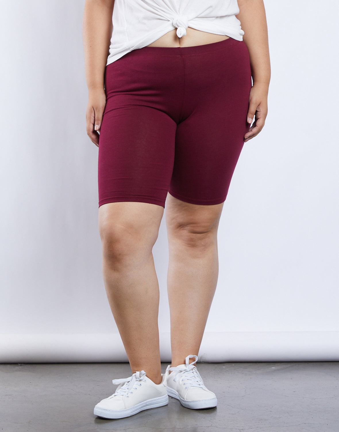 Plus Size Simple Bike Shorts