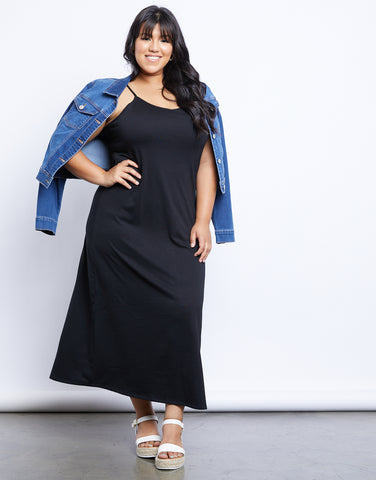 Plus Size Simple Cami Maxi Dress