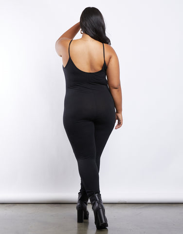 Plus Size Simple Tank Jumpsuit