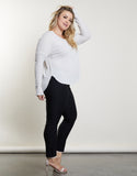 Plus Size Soft Long Sleeve Top
