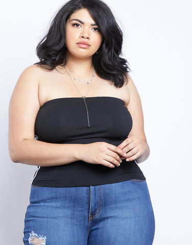 Plus Size Sport Tube Top