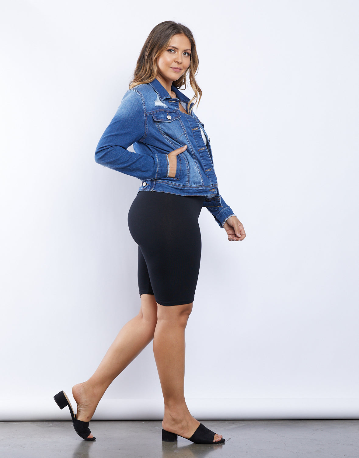 Plus Size Sporty Girl Biker Shorts