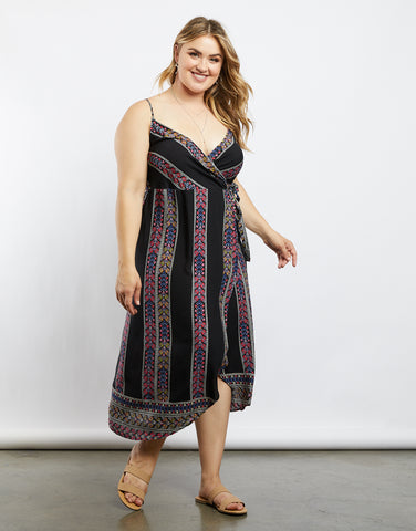 Plus Size Spring and Summer Wrap Dress