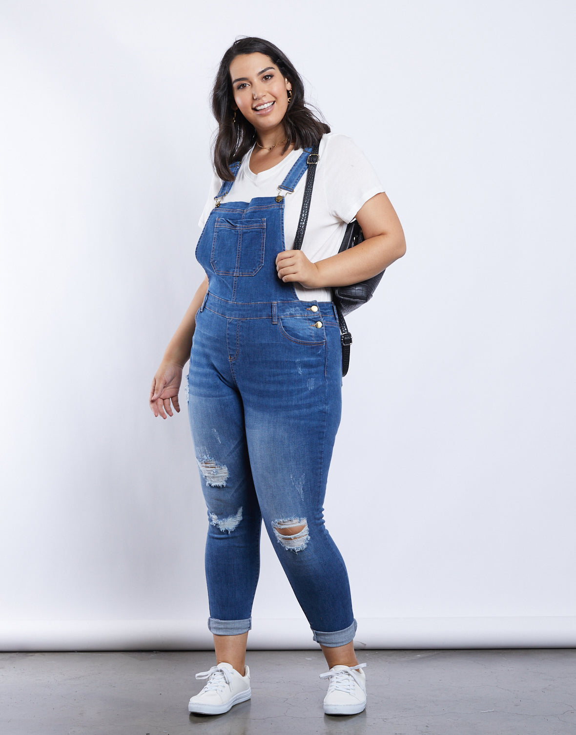 Plus Size Stella Denim Overalls