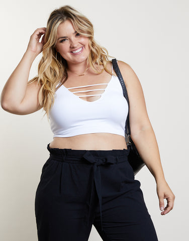 Plus Size Strappy Bralette