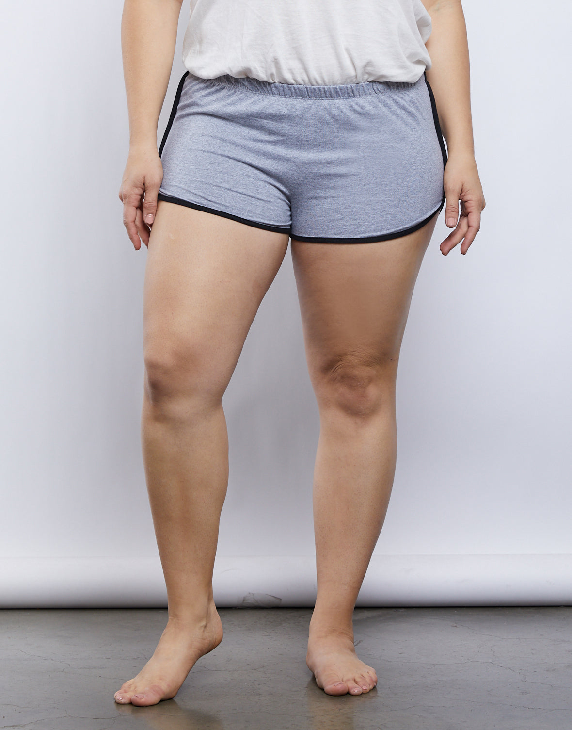 Plus Size Striped Sporty Shorts