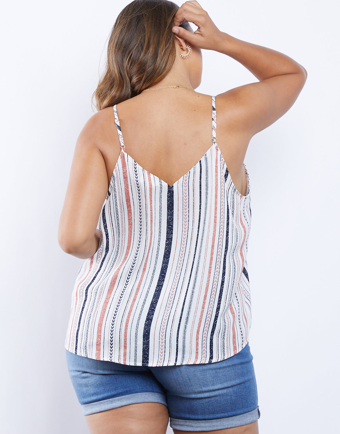 Plus Size Stripes On Stripes Tank